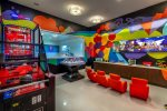 Kids have their own arcade room to hang out at Isole Villas