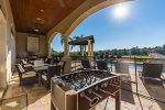 This beautiful custom pool with spillover spa overlooks the Jack Nicklaus Signature Golf Course