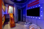 The kids will love being in their galactic themed spaceship bedroom