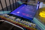 Play on the tabletop arcade classics game table