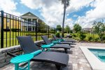 4 sun loungers to lay back and enjoy the pool area throughout the day