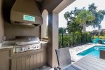 A built in BBQ to grill up delicious meals for all