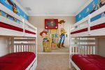 Featuring two twin/twin bunk beds to sleep up to 4