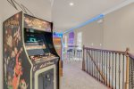 Custom neon lights up the games room