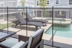 Relax on some sun loungers and enjoy your private pool area