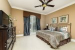 Enjoy comfort and style in the downstairs king bedroom
