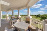 This condo overlooks the golf driving range and faces the Disney night time fireworks