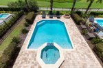 Admire beautiful pool views from the second floor balcony