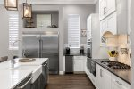 Stainless steel appliances make cooking a breeze