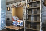 Kids can plan to find treasure from their secret little playroom