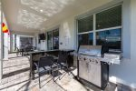 Grill up lunch while the family splashes in the pool