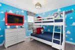 Kids will love having their own room and TV