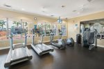 The fitness center so you wont miss a workout