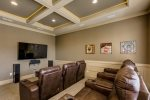 Choose your favorite family movie to watch in the home theater