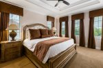 Sleep soundly in the master suite king bed