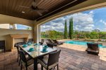 Enjoy dinner outside at the outdoor dining area