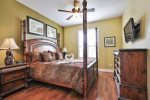 Charming king master bedroom