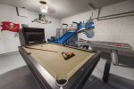 Have fun with the family in your own private games room with a pool table and air hockey table