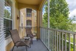 Sunny west facing balcony offers privacy, sun and wonderful Florida sunsets