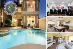 Magical Sunset Villa | Amazing Pool Villa with 2 Game Rooms, Slate Pool Table, 12 TVs throughout home and 3 Stories of Balconies with Amazing Views