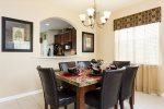 Formal dining area for six
