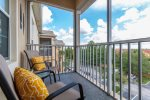 Sit and enjoy the warm evening Florida breezes on your own private balcony