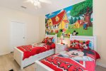 The kids will love this bedroom