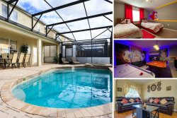 Windsor Sun | Fun Family Pool Home with Minnie & Mickey Themed Bedrooms, Games Room & More