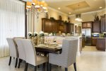 The open floorplan dining area makes family meals special