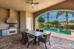 Spacious outdoor lanai and summer kitchen