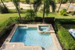 Your pool deck backs right up to the golf course