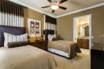 The kids will love this spacious bedroom with 2 twin beds