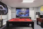 The games room awaits for fun nights