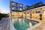 Your own private courtyard pool with spillover spa