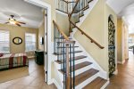 Beautiful staircase that leads to the bedrooms