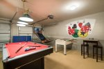 Choose from a game of pool, air hockey, foosball, or shoot a few hoops