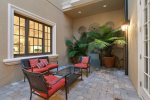 The courtyard offers a great outdoor space to relax