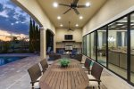Enjoy family dinners on the back patio