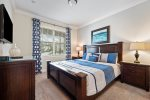 Calming blue themed king bedroom