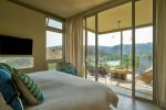Second master suite overlookig Presa Obraje and surrounding hills
