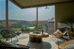Private covered terrace wtih panoramic views of Presa Obraje