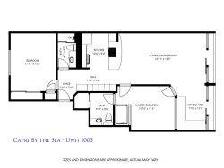 Floor plan of your rental