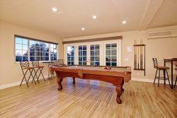 The game room - full size pool table