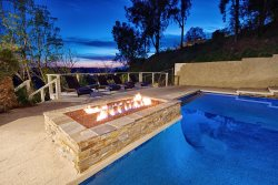 Imagine sitting around the fire pit after soaking in the hot tub