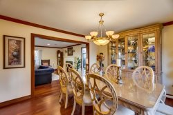 Dining room leads directly into kitchen for easy entertaining