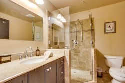 Nicely remodeled bathroom