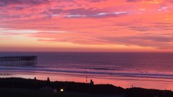 Beautiful sunsets like this are common.