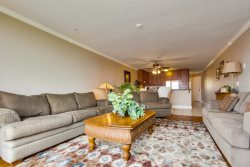 This queen sofa sleeper has a memory foam mattress for additional sleeping space