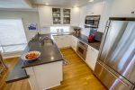 Another view of kitchen with quartz countertops