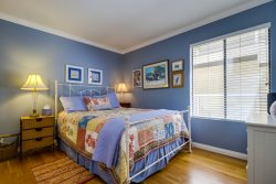 Blue Bedroom with queen size bed